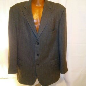 Andrew Fezza Mens Herringbone Suit Jacket